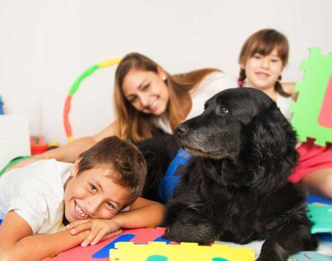 Terapias con perros y niños