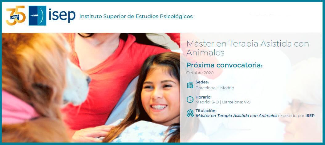 Máster en Terapia con animales en ISEP